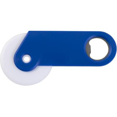 Image of Plastic pizza cutter and bottle opener