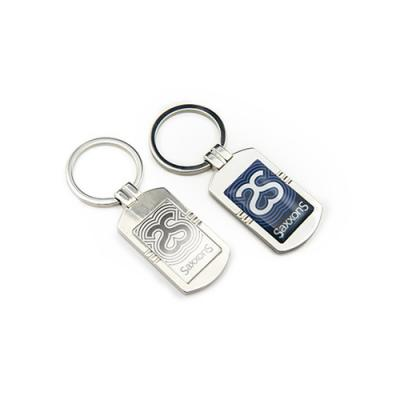 Image of Luxury Feel Key Ring With Chrome Body And Full Colour Resin Dome To The Front