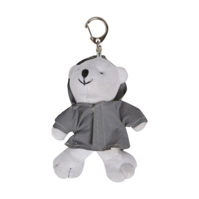 Image of Plush bear with reflective hoodie.