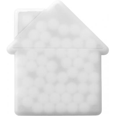 Image of House shaped mint card.