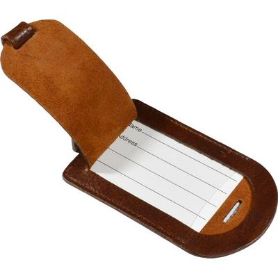 Image of Ashbourne Full Hide Leather Luggage Tag