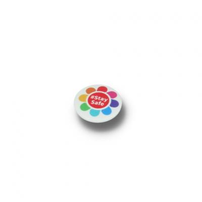 Image of STAY SAFE BUTTON BADGE - 25MM CIRCLE